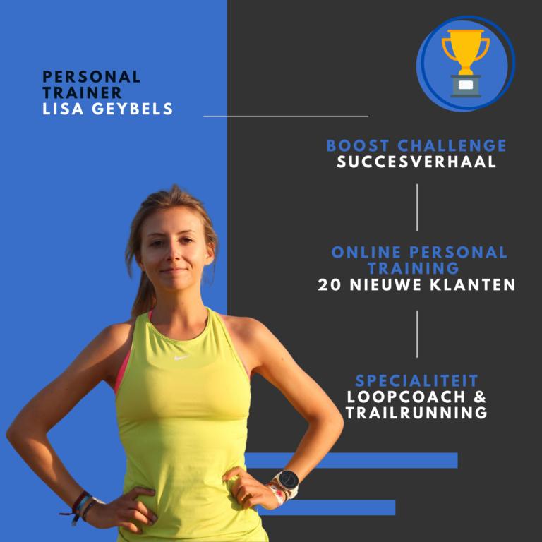 PT Boost challenge resultaat Lisa