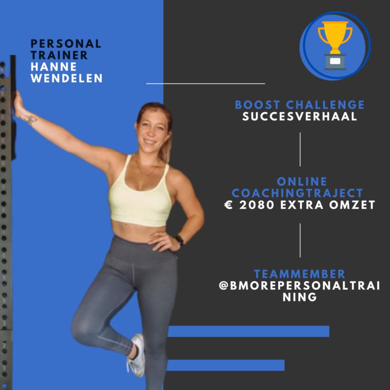 PT Boost challenge resultaat Hanne
