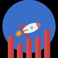 schaalbaar businessmodel icoon
